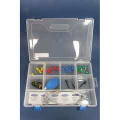 10 compartment plastic box with hinged lid 290mmx190mmx60mm