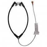Flexible stethoclip with mushroom ear tips, damper and attenuator