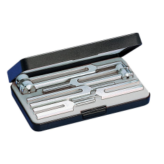 Riester tuning fork set III with 5 aluminium forks